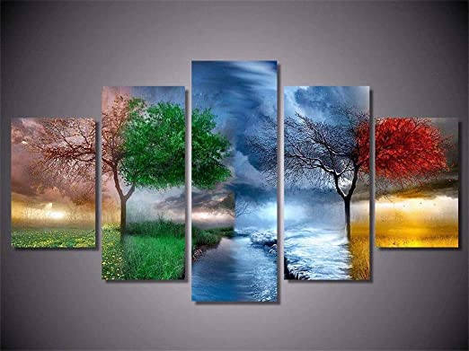 5x Modern Art Oil Landscape Painting Canvas Print Wall Art Picture Home Decors