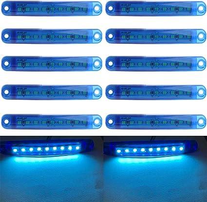Led Seitenmarkierungsleuchten 10 Stücke Auto Externes Licht 9 Smd Led Seitenmarkierungs Anzeigelampe Vorne Hinten Seitenlicht Positionslampen 12 V Für Auto Blau Auto