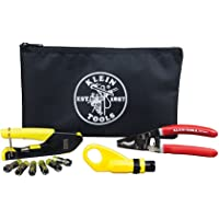 Coax Installation Kit with F Connectors, Cable Cutter, Compression Tool, Stripper, More Klein Tools VDV026-211