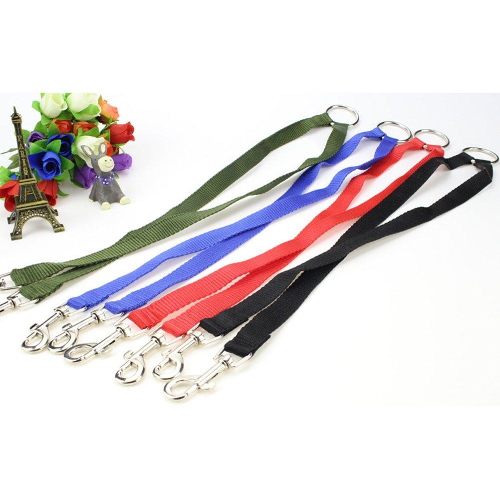 UEETEK Doble Correa para Perros resistente y ajustable correa doble para dos mascotas correr trotar o caminar Negro
