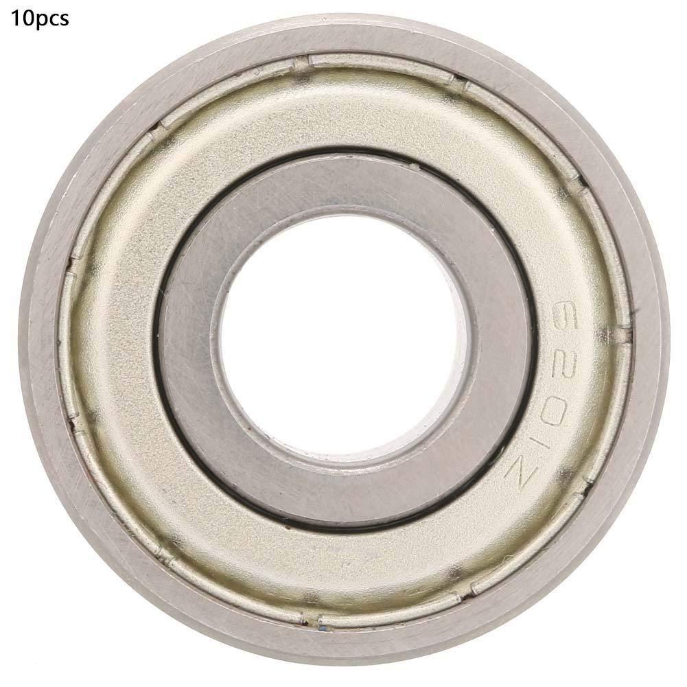10Pcs High Quality 6201z Bearing Steel Deep Groove Ball Bearing 12mm for Industrial Deep Groove Ball Bearing