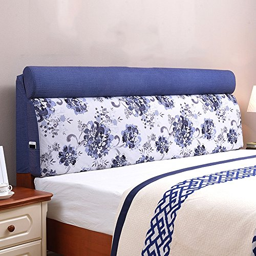 Children's bed large back pad / European fabric removable washable bedside cushion soft bag / ( Size : 1556012cm ) by Cushion (Image #6)
