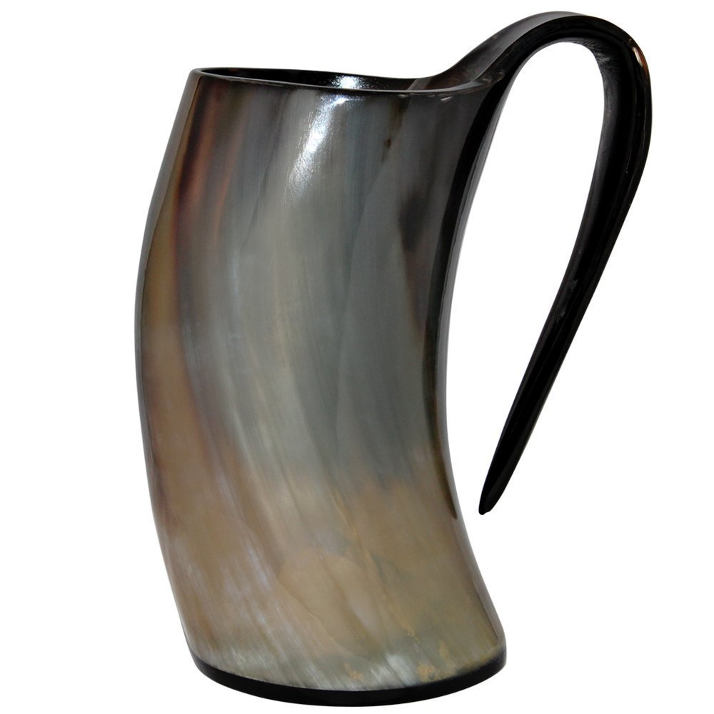 Premium Horn Mug 24oz. | Viking Mug Beer Tankard | Drinking Horn Mug Authentic Viking Drinking Mug