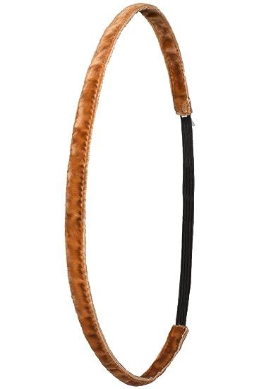 Ivybands Anti Rutsch Haarband Super Thin Braun One Size Ivy215