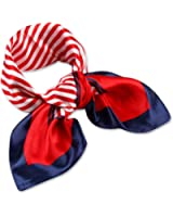 femmes carre echarpe foulard en satin plaids main tete mainbag multi-usages 50cm*50cm
