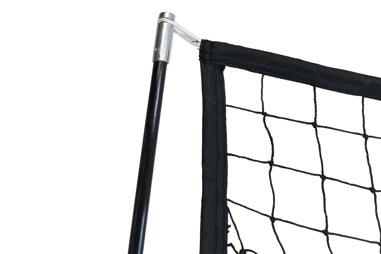 Sport Nets Baseball Softball Hitting Net – 7 x 7 Practice Large Mouth Net with Bow Frame