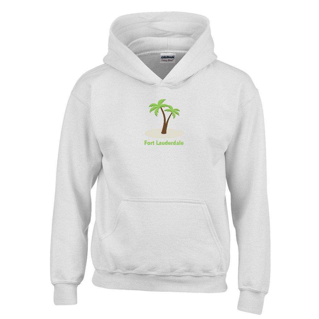 Fort Lauderdale Florida Palm Tree Youth Hoodie Kids Sweatshirt