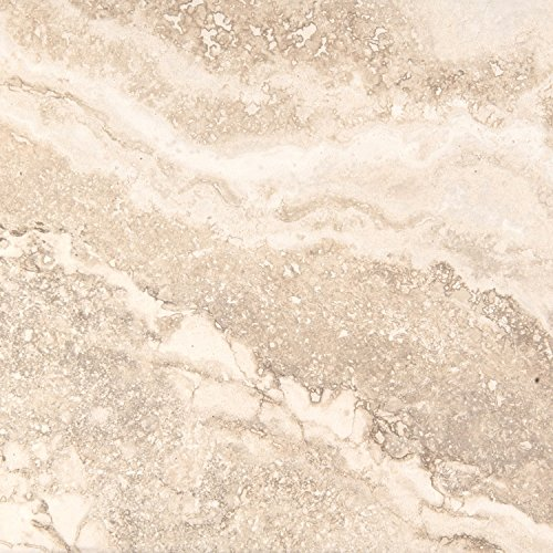 "Emser Tile F02HOMECR1818 ""Homestead"" Porcelain Tile, 18"" x 18"", Cream"