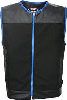 product image for Zipper Racer Vest (Cordura - Military Grade Fabric) Black/Blue