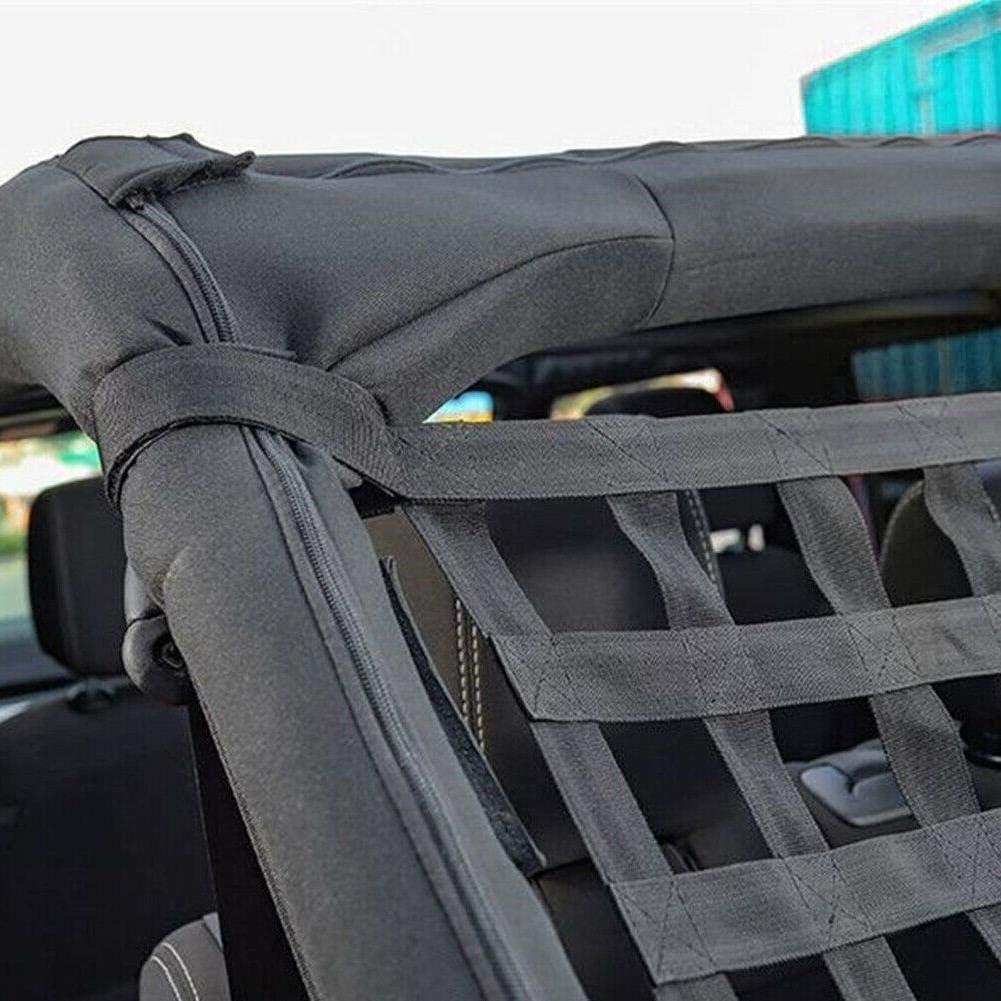Dinapy Rete Elastica per Bagagliaio in Nylon Colore: Nero per Jeep Wrangler TJ JK JL 1997-2019