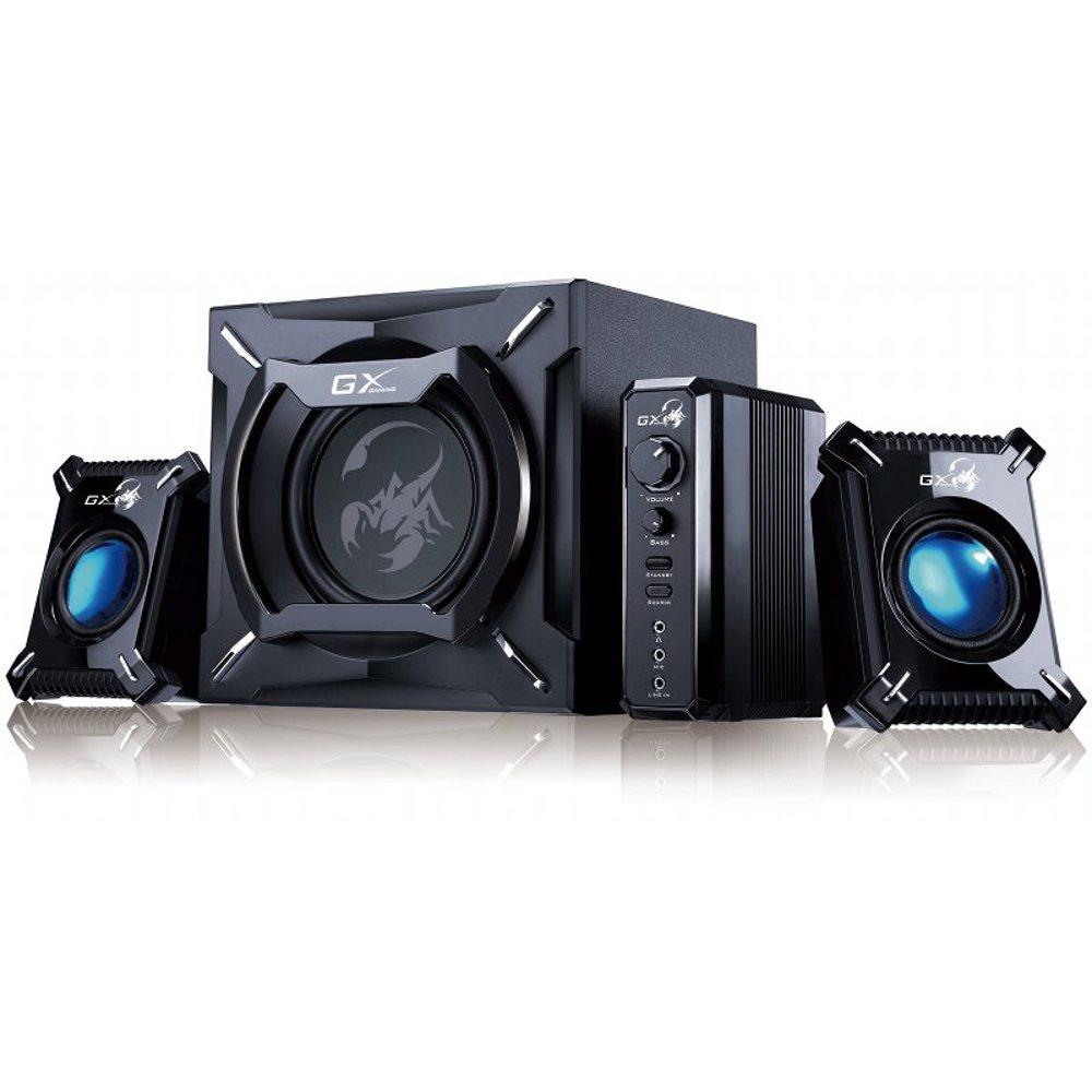 Genius SW-G2.1 2000 - Equipo de altavoces de 45 W (2.0, 75 dB, 4 Ohmios, 3.5 mm, RCA), negro