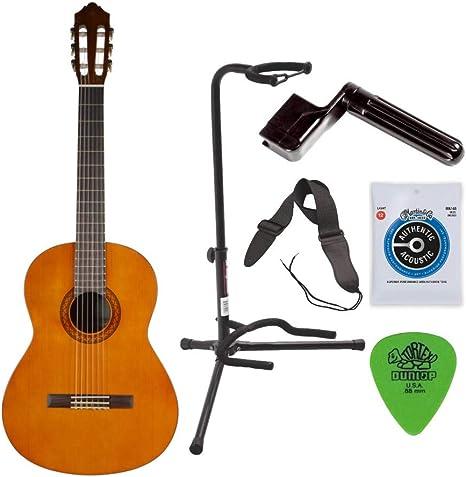 Yamaha C40 Tamaño Completo Guitarra Clásica de nylon-string + ...