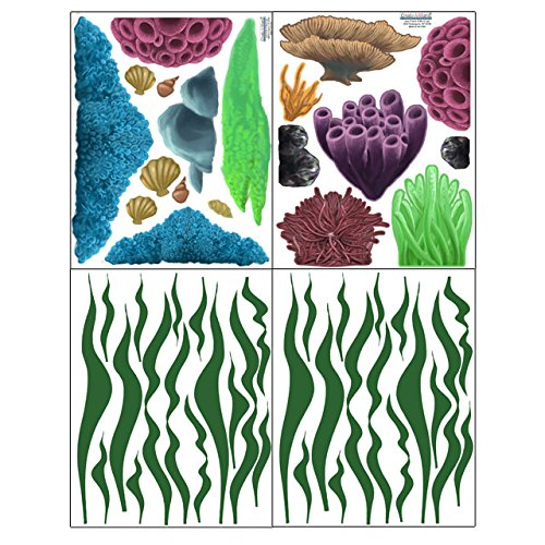 Create-A-Mural Coral & Seaweed, Ocean Wall Decals, Undersea Wall Decor Stickers for Kids Room ~ (34) Sea Wall Stickers by Create-A-Mural (Image #7)