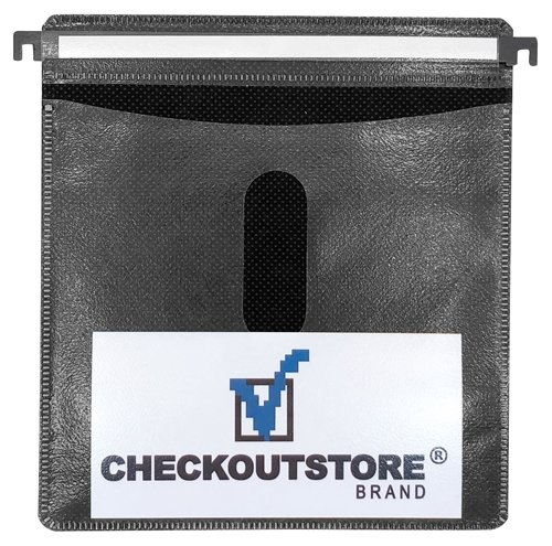 100 CheckOutStore CD Double-sided Refill Plastic Hanging Sleeve - Black