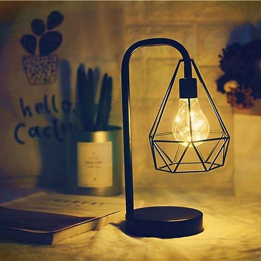 LIANG Iluminación Loft Vintage Industrial Tubería de Agua Mesa de ...