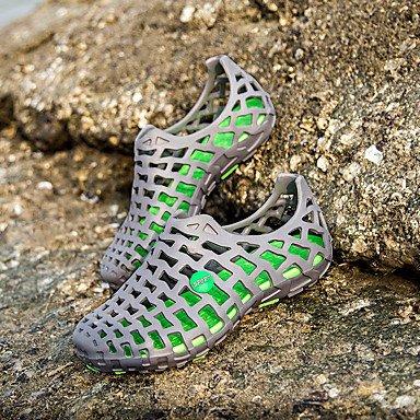 LvYuan MujerOtro Zapatos agujero-Sandalias-Informal-PU-Negro Azul Blanco Gris Rosa Rosada fuchsia