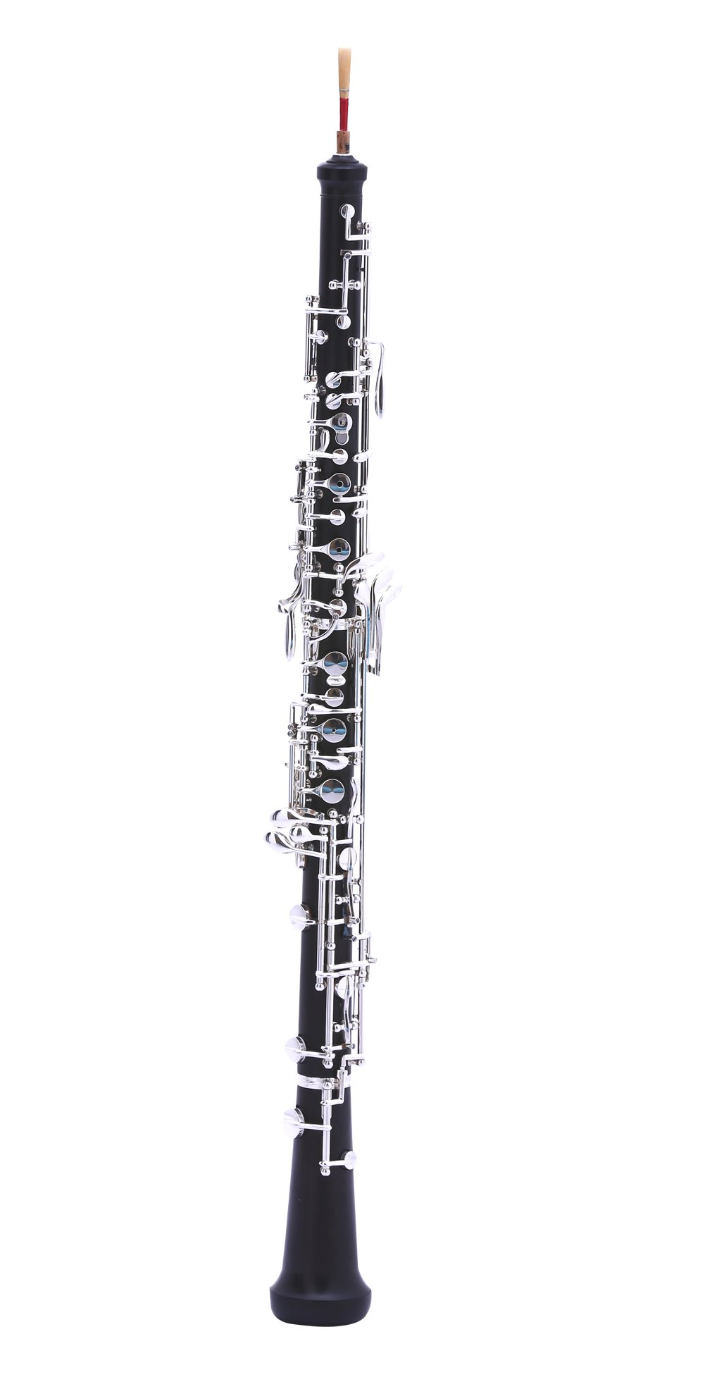 MeeLe C Key Oboe with Grenadilla Wood Body Silver Plated Keys for Students & Beginners