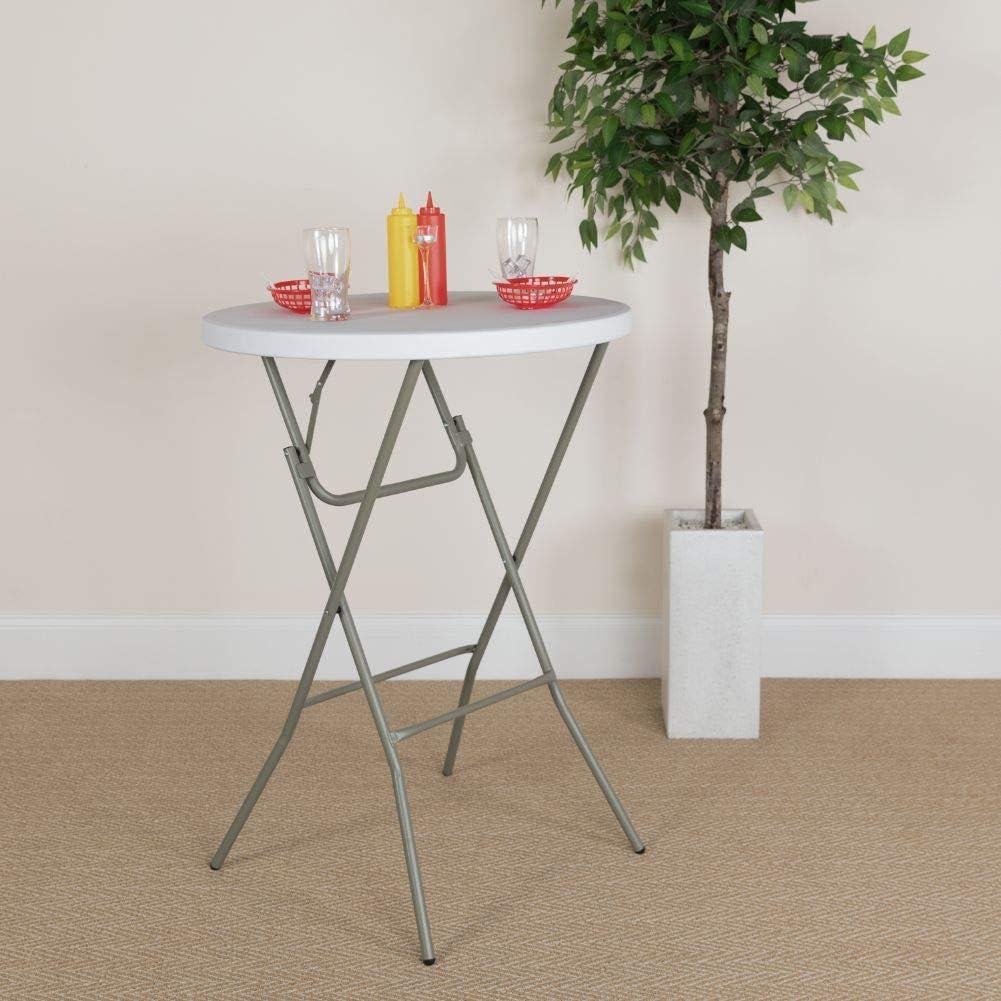 - Amazon.com: Flash Furniture 2.6-Foot Round Granite White Plastic