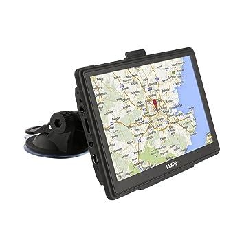 Navegador GPS, LESHP sistema de navegación GPS de coche, 5 pulgadas, tarjeta de