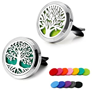 Car Aromatherapy Essential Oil Diffuser Stainless Steel Locket