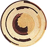 Fair Trade Uganda African Bukedo & Raffia Bowl 15-16'' Across, #UR3616