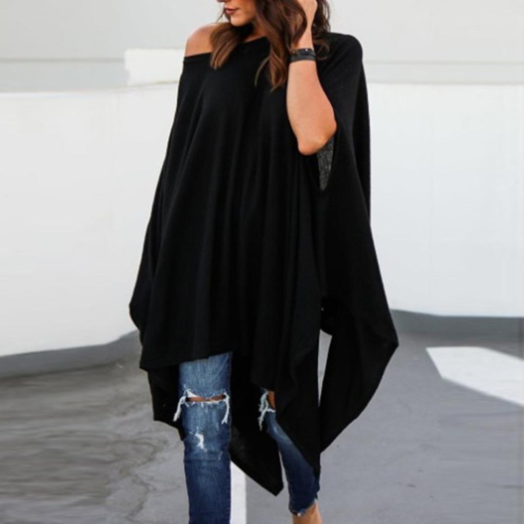 6642bd014 ... Teresamoon Womens Long Sleeve Casual Cold Shoulder Tunic Tops Loose Blouse  Shirts Teresamoon-Blouse
