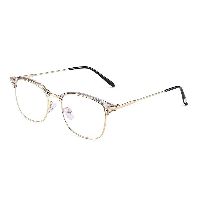 9a6631cf38 JM Vintage Semi Sin Marco Montura Rx-able Anteojos Metal Gafas Ópticas Marco  Para Hombre Dorado: Amazon.es: Ropa y accesorios