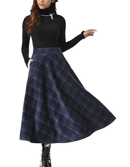 BOLAWOO-77 Retro De Cintura Alta De Las Mujeres Una Falda Mode De ...