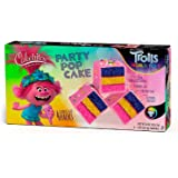 The Original Cakebites by Cookies United, Grab-and-Go Bite-Sized Snack, Trolls - Party Pop Cake, 4 Pack of 3 Cookies