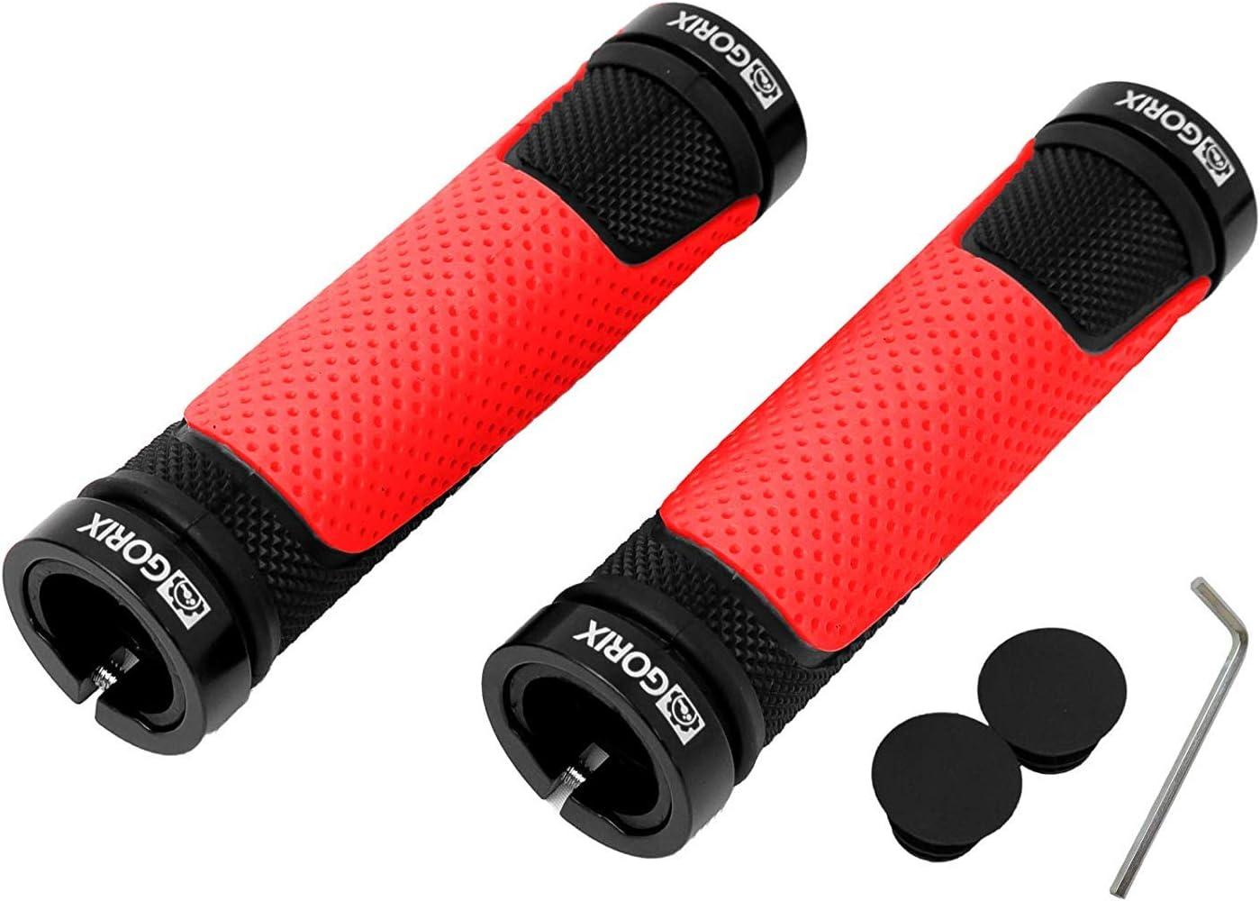 GORIX Bike Grips Bar End Cycle Lock On Soft Flat Handlebar MTB Bicycle GX-776AD3-L2-G2