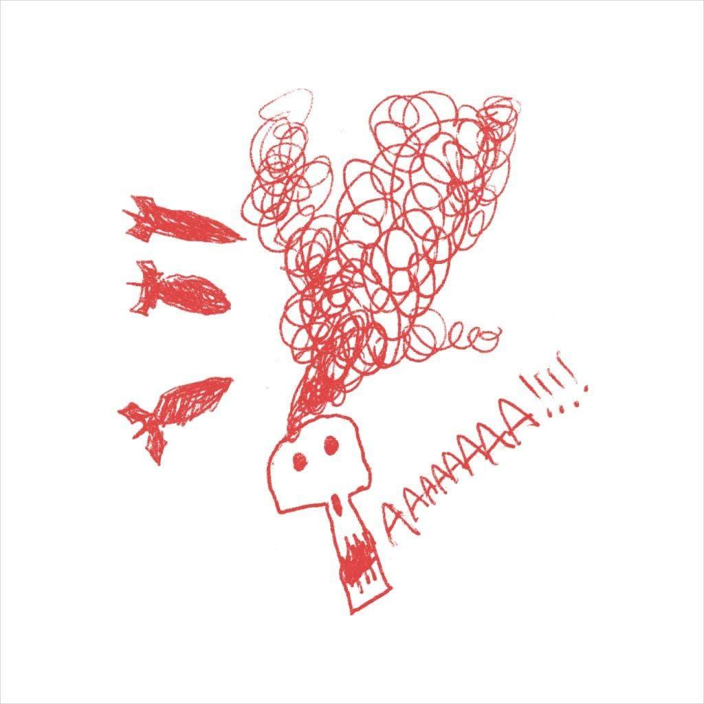 Zits Red Aaaaah Skull Doodle Kids T-Shirt