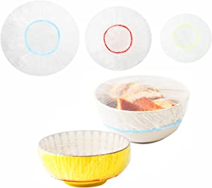 Reusable Elastic Bowl Covers,60 PCS Colorful Food Wrap Leftover Covers For Family outdoor 3 Size