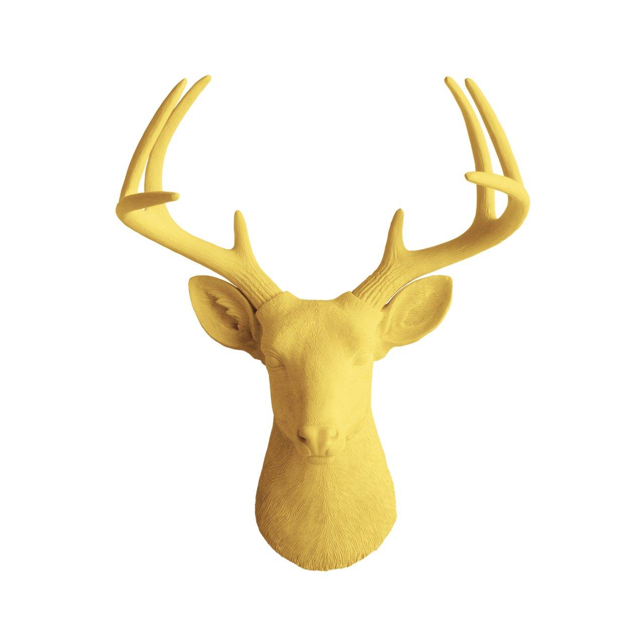 Amazon.com: Wall Charmers Large Faux Deer Head | The Virginia Room ...