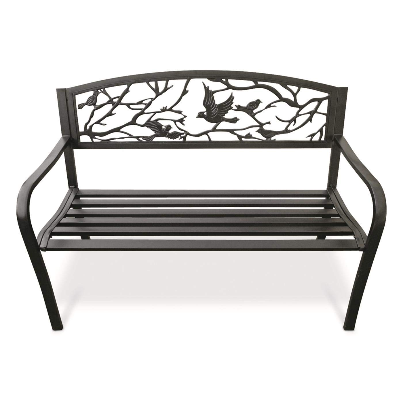 Wondrous Castlecreek Perched Birds Park Bench Ibusinesslaw Wood Chair Design Ideas Ibusinesslaworg
