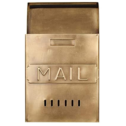 Vertical wall mount mailbox Wall Mounted Image Unavailable Amazoncom Naiture Brass Vertical