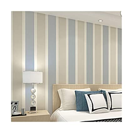 Wallpaper Environmentally Friendly Non Woven Wide Striped Bedroom