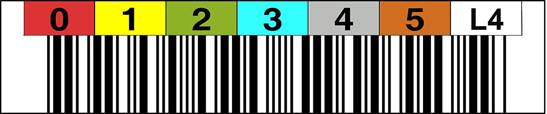 LTO 4 Label Horizontal – Número circular 000300 – Horizontal 000399 a24929