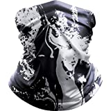ALLYAG Bandana Face Mask, Neck Gaiter Face Scarf - UV Protection Face Cover - Breathable Windproof Dust for Sports…