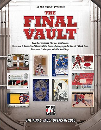 - 2015/16 (2016) In The Game 'The Final Vault' Hockey box (10 cards)
