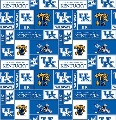 - College University of Kentucky Wildcats 012 Print Fleece Fabric By the Yard