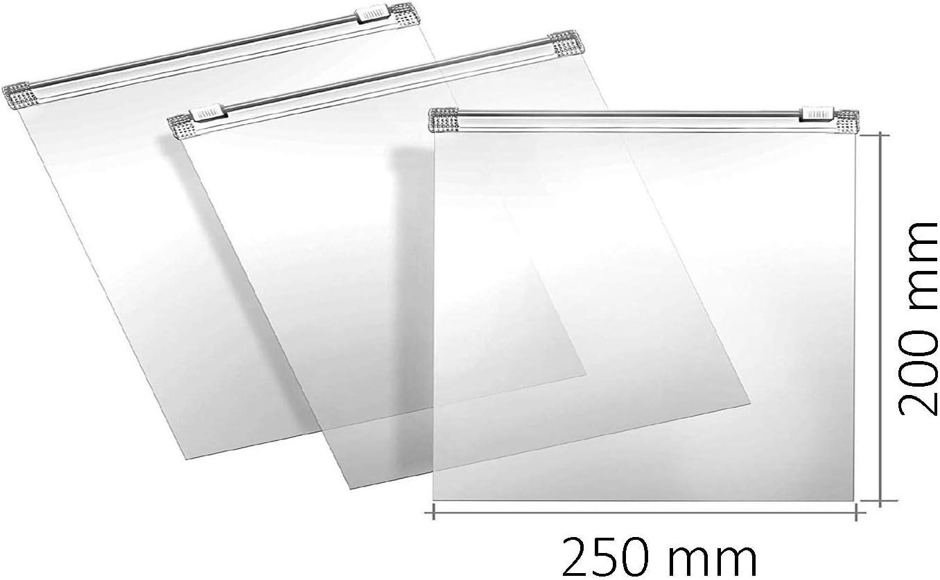 Rolli Sachet Plastique Sachet Curseur Sachet Herm/étique Sachet Plastique Transparent Sachet Plastique Zip Sac Cong/élation 180x220 50 /μm 50pcs