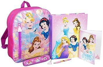 Mochila Princesas Disney Cenicienta Bella Blancanieves Aurora Ariel Rapunzel Cartera Juvenil Mochilas Escolares Niñas: Amazon.es: Equipaje