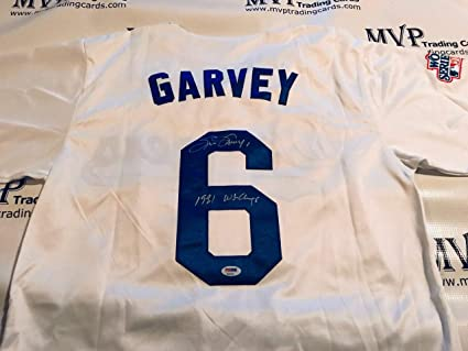 PSA DNA Authentic Steve Garvey Autograph Throwback Los Angeles Dodgers  Jersey w   81 d5c3042b101