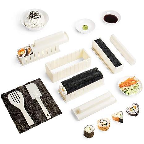Virklyee Sushi Maker Kit 10pcs 5 Formas únicas De Kit Para Hacer Sushi Molde Inicio Hacer Sushi Kit Sushi Kit Del Fabricante Fácil Y Divertido Diy Set