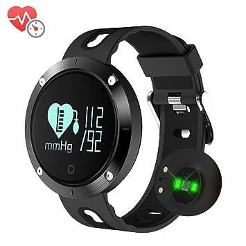 Fitness Activity Tracker, pulsera inteligente con pulsómetro, seguimiento Presión Sanguínea, correa Bluetooth Wireless con podómetro/Contador Calorías/Aviso ...