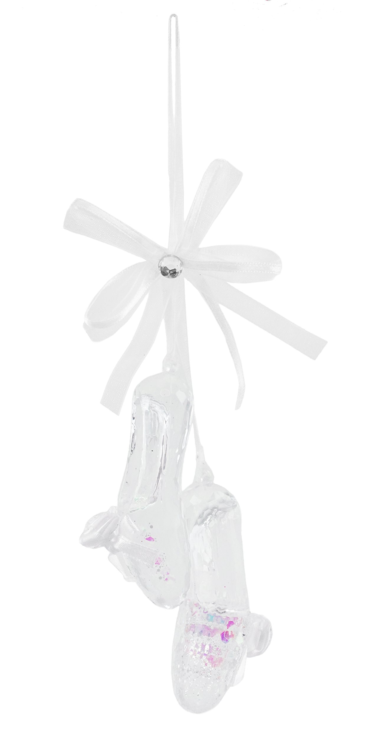 Caffco Crystal Clear Ballet Shoes Hanging Christmas Ornament by Caffco (Image #1)