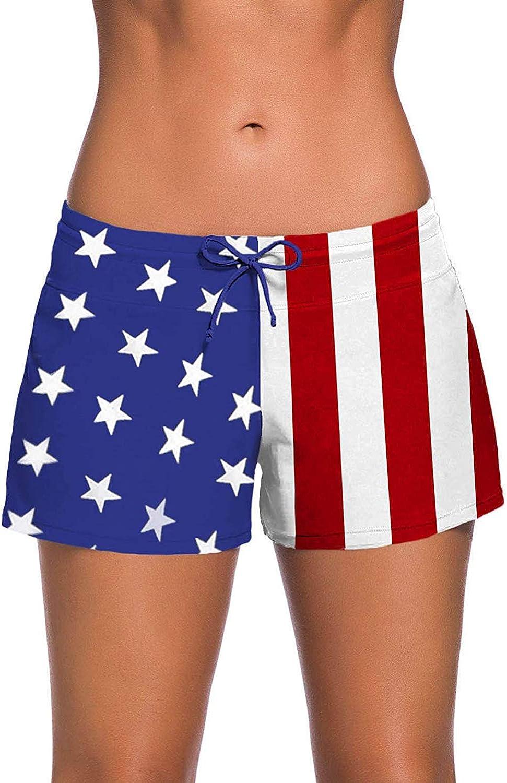 XmasPJS Swim Shorts for Women Sports Summer Bottom Slit Swim Beach Board Shorts