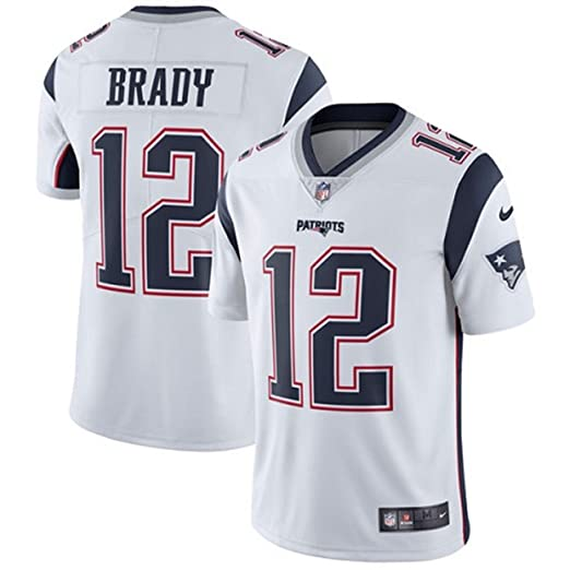 NIKE  12 New England Patriots Tom Brady Men s White Football Jersey (X-Large 003dee6d3