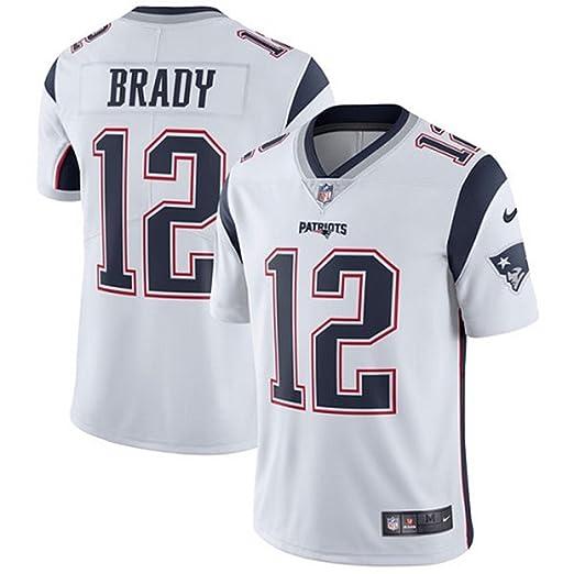 pretty nice b63f9 37710 NIKE #12 New England Patriots Tom Brady Men's White Football Jersey