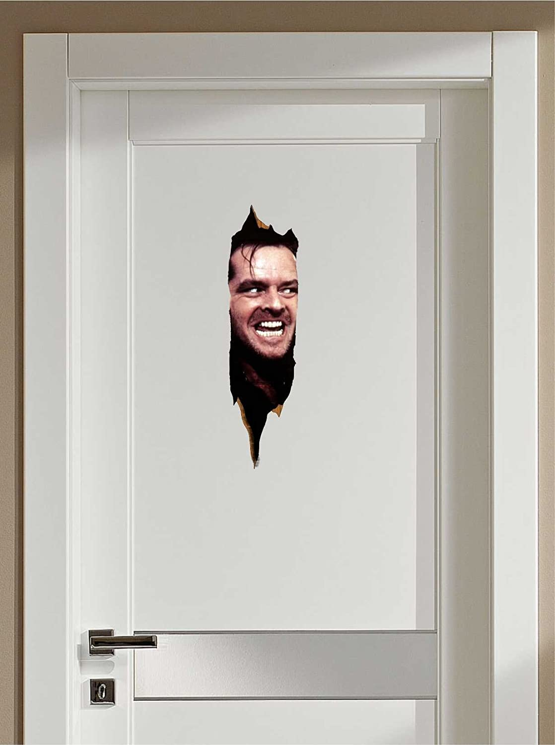 The Shining Here's Johnny Repositionable Door or Wall Decal Sticker Graphic-USA Seller-Makes a Great Gift!